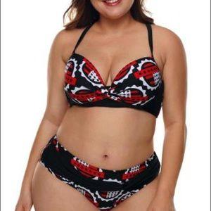 Plus Size Two Piece Bikini set